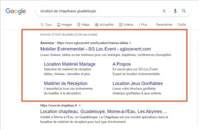 Exemple Consultant Adwords n°369 zone Guadeloupe par Marvin